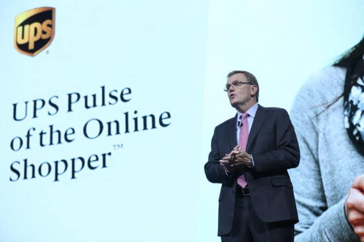 Image: Alibaba Group   UPS CEO David Abney at Gateway 17