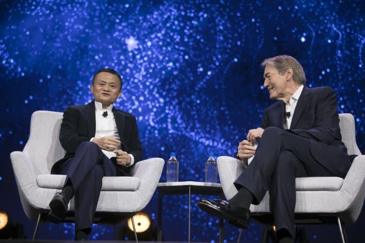 Image: Alibaba Group   Jack Ma and Charlie Rose at Gateway 17