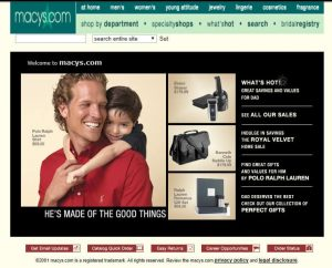 Image: archive.org   macys.com in 2001