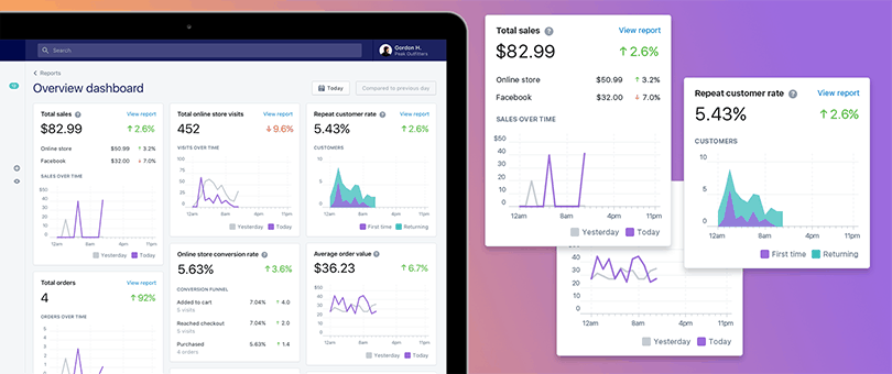 Image: Shopify | Merchant Overview Dashboard