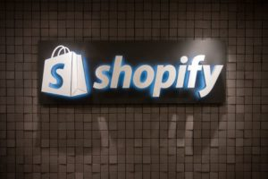 Shopify wall logo