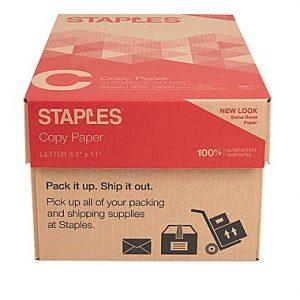 staples paper carton