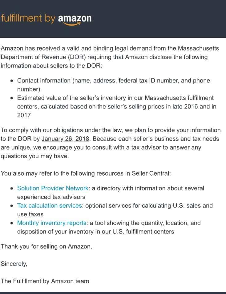 Amazon Massachusetts