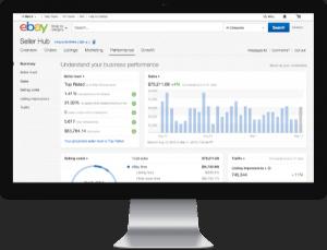 ebay seller hub screen understand your business performance