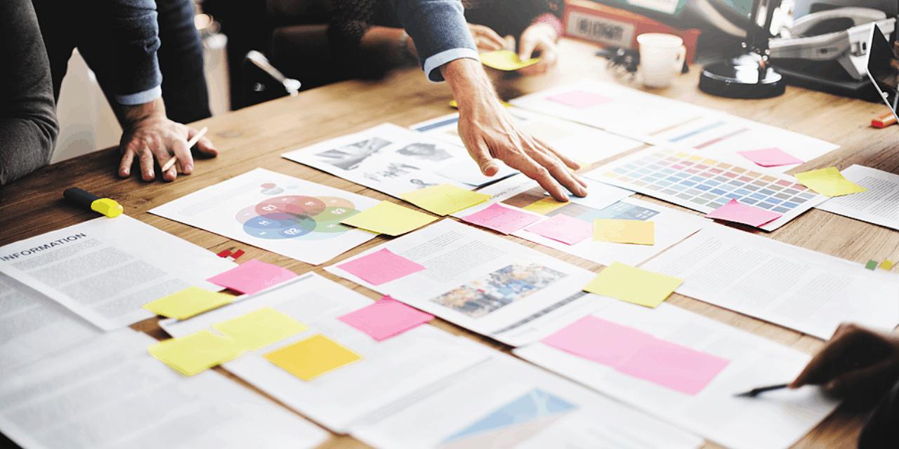 Entrepreneur brainstorm session