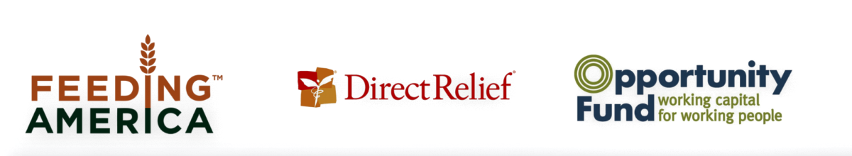eBay Charity | Feeding America | Direct Relief |  Opportunity Fund