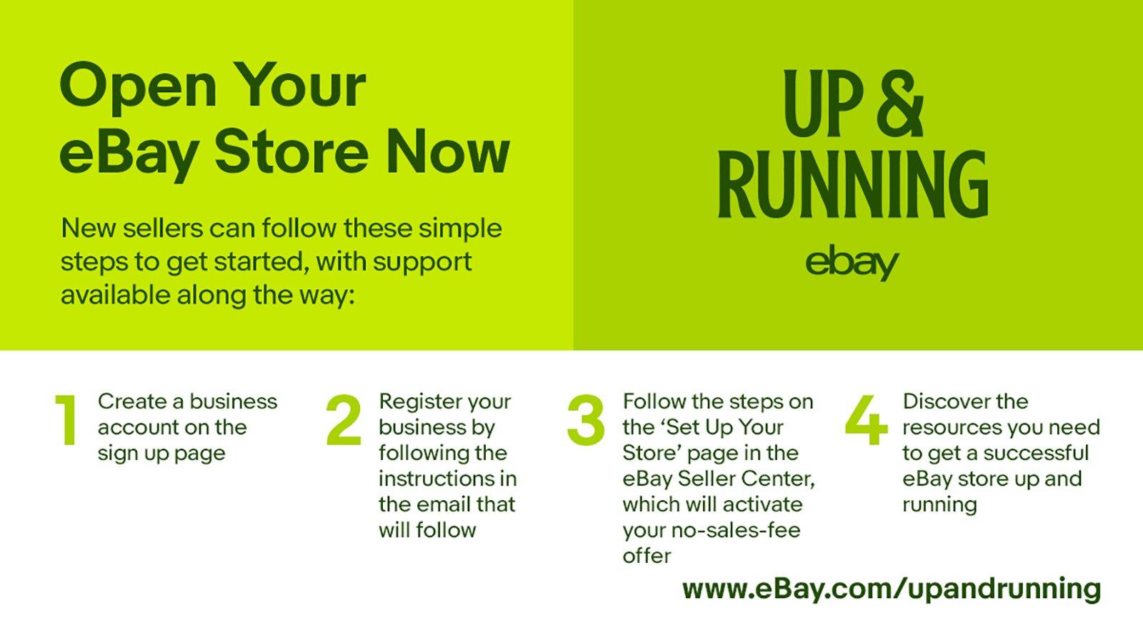 Open new eBay Store